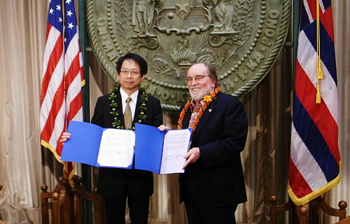 President Hato and Governor Neil Abercrombie
