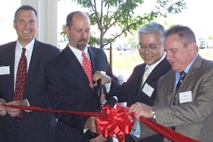 Ribbon cutting at the inauguration ceremony