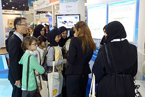 NEDO booth crowded with visitors