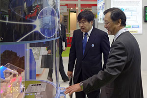 Director-General and Agency for Natural Resources and Energy at NEDO booth