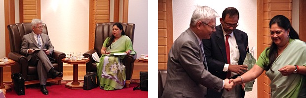 Furukawa and Ms. Vasundhara Raje, Chief Minister of the state of Rajasthan