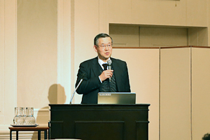 photo:The keynote speech delivered by Director Akira Yabe