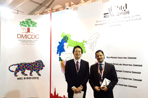 Mr. Tetsuya Tanaka, the Chief Representative of the NEDO Representative Office in New photo:  Delhi, and Mr. Alkesh K. Sharma, CEO & Managing Director of DMICDC (right)
