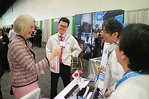 photo:  Dr. Williams, ARPA-E Director visited NEDO's booth