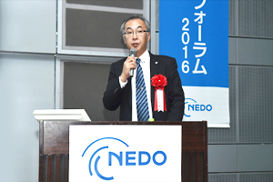 photo: Ube Industries, Ltd. Ceramic Fiber Development Group Manager Dr. Hiroyuki Yamaoka delivering the keynote lecture