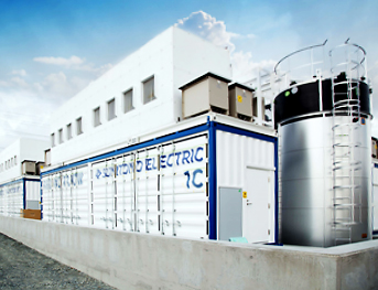 figure: MW/8 MWh redox flow battery system