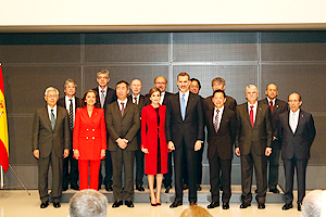 The King and Queen of the Kingdom of Spain with other event attendees