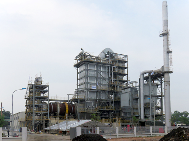 Outside shot of the waste incineration power generation plant
