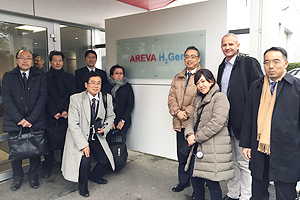 A group photo taken at AREVA H2Gen's facilities