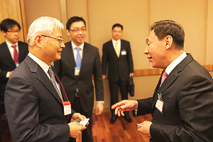NEDO Chairman Kazuo Furukawa and Vice Director NDRC Zhang Yong of NDRC at venue