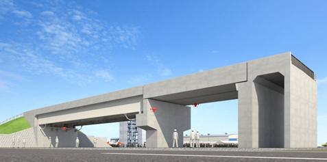 福島ロボットテストフィールド 試験用橋梁 完成予想図を表した図2