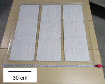 1m2スケール大型光触媒パネル反応器の外観を表した図6