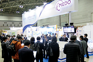 "Many visitors at the NEDO's booth (""InterAqua 2018"")"