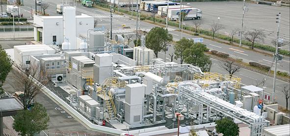 実証試験を実施した神戸ポートアイランドに設置した実証プラントの写真