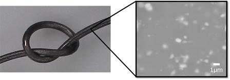 マグネシウム合金ワイヤーとその組織のイメージ
