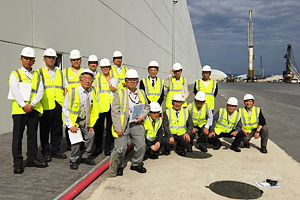 Photo of participants during the site tour