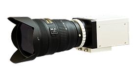 開発したサンプリングモアレカメラの図