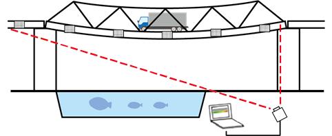 開発した技術での変位測定のイメージ図