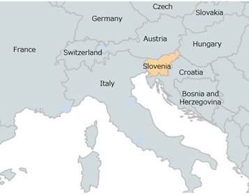 Figure of 3 Map of countries surrounding Slovenia