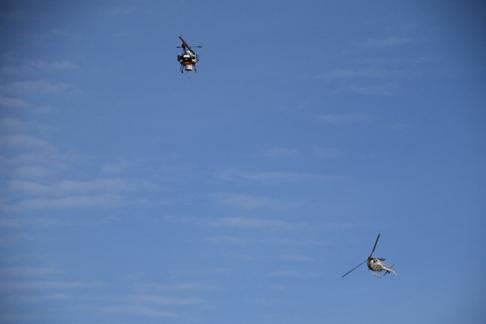 模擬飛行する中型の無人航空機の様子の図