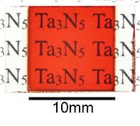 開発した窒化タンタル光触媒からなる酸素生成光電極
