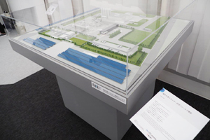 Photo of Fukushima Hydrogen Energy Research Field model exhibited by Toshiba Energy Systems and Solutions Corporation