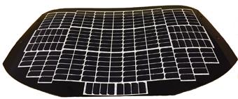 複数の太陽電池セルにより構成された太陽電池パネル(バックドア部)