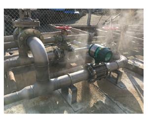 温泉モニタリング装置設置例の図