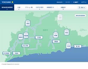 別府市の温泉管理システム画面の図