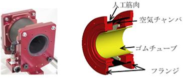 ぜん動ポンプの構成を示した図