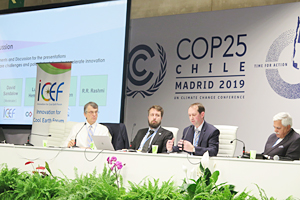 Photo of Panel discussion at the UNFCCC Official side event (ICEF)