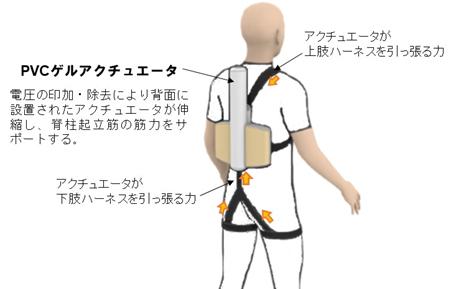 腰サポートウエアの上肢・下肢ハーネスに働く力