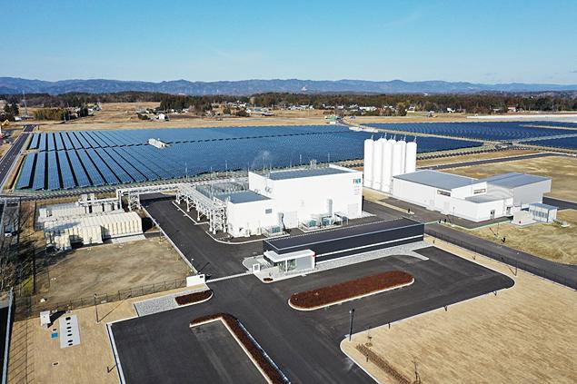 完成した福島水素エネルギー研究フィールド(FH2R)の写真